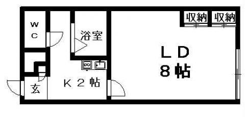 レオパレスクローバー 104号室賃貸物件_間取図