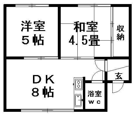 アリコベール大曲 102号室賃貸物件_間取図