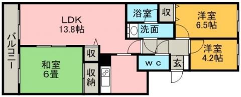 ラークマンション桂台 111号室賃貸物件_間取図
