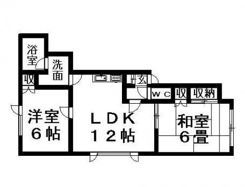 クラージュ平岡 202号室賃貸物件_間取図