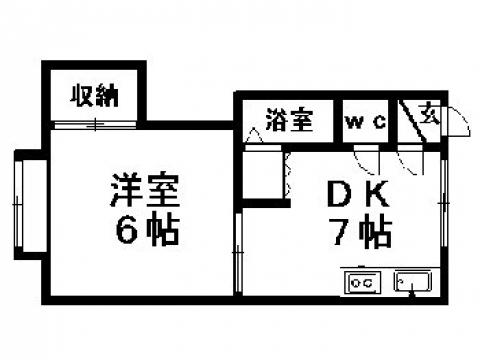マクセル16/100 205号室賃貸物件_間取図