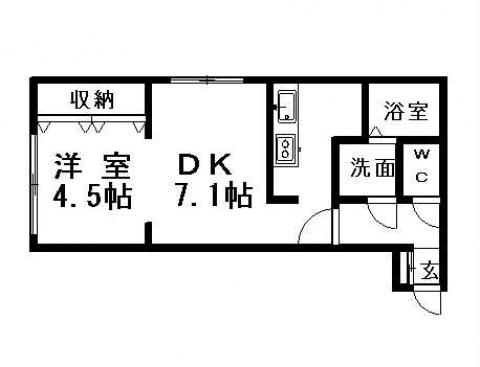 アールフリー真栄2-1 303号室賃貸物件_間取図