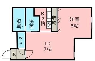 プリムラKⅠ 103号室賃貸物件_間取図
