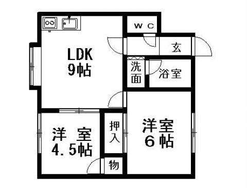 カナルコートⅠ 201号室賃貸物件_間取図