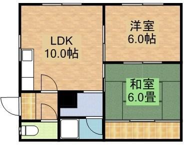 すずらんマンションの間取写真