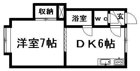 サウスヒルズ清田 102号室賃貸物件_間取図