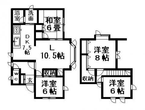 清田7-1戸建の間取写真