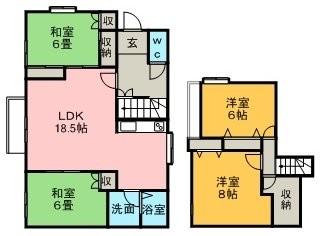 清田3-2戸建(8-30)の間取写真