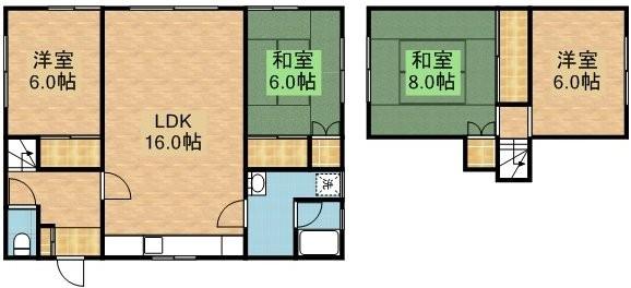 大曲並木3丁目貸家 1号室賃貸物件_間取図