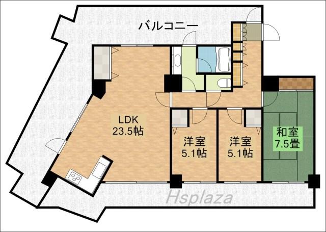 平岡フォレストタウンファミールハイツ8号館の間取写真