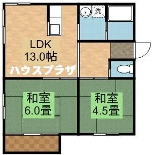平岡5-2テラスハウスの間取写真