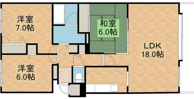 平岡フォレストタウンファミールハイツ12番館の間取写真