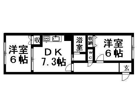 ビッグバーンズマンション清田の間取写真